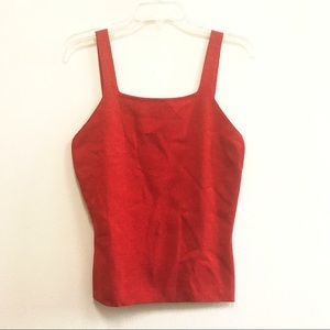 Claudia D. Red Shimmer Top Sz M